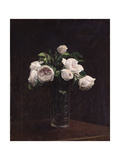 Blush Roses in a Glass, C.1860-1900 Giclee Print by Henri Fantin-Latour