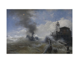 A Tug Leaving the Port of Ostend, 1878 Giclee Print by Andreas Achenbach