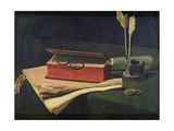 Still Life with Book, Papers and Inkwell, 1876 Giclee Print by Francois Bonvin