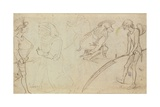 Studies of Grotesque Figures Giclee Print by Hieronymus Bosch