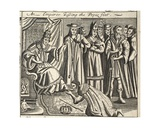 An Emperor Kissing the Pope's Feet, Illustration from 'Acts and Monuments' by John Foxe, Ninth… Giclee Print