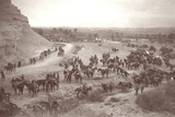 Allied Troops Crossing the Wadi Nuweimeh in the Jordan Valley, C.1917-18 Photographic Print by Capt. Arthur Rhodes