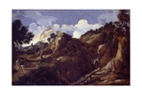 Mountainous Landscape with Approaching Storm, C.1638-39 Giclee Print by Gaspard Poussin Dughet