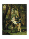 Group Portrait of John, Theophilus and Frances Levett, 1811 Giclee Print by James Ward