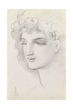 Study of a Garlanded Head, 1867 Giclee Print by Simeon Solomon