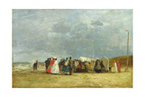 At the Seaside, 1867 Giclee Print by Eugène Boudin