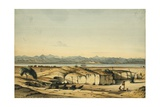 Village of Badoor on Island Ageeg, Red Sea, from the Wells, 1833 Giclee Print by Rupert Kirk