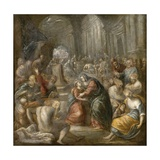Sketch of Jesus Returning to His Mother, C.1605 Giclee Print by Andrea Vicentino