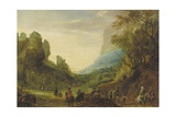 Alpine Landscape with Travellers in a Valley Giclee Print by Peeter Snayers