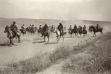 Anzac Soldiers and Captured Turkish Officers on the Move, Near Amman, C.1917-18 Photographic Print by Capt. Arthur Rhodes