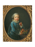 Boy with Peaches, 1760 Giclee Print by Francois-Hubert Drouais