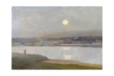 Moonrise over Hayle, from Lelant, C.1892 Giclee Print by Sir Alfred East