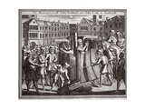 The Martyrdom of Mr John Bradford and John Leaf in Smithfield, Illustration from 'Foxes Martyrs'… Giclee Print