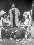 William F. Cody with Red Cloud and American Horse Lámina fotográfica por David Frances Barry