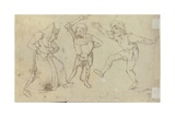 Three Dancing Figures Giclee Print by Hieronymus Bosch