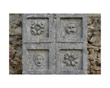 Fragment of a Coffered Ceiling with Theatre Masks and Rosettes Giclee Print