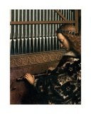 Detail of St. Cecilia, from the Ghent Altarpiece, 1432 (Detail) Giclee Print by Hubert & Jan Van Eyck