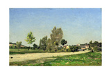 A Village Roadway, 1891 Giclee Print by Henri-Joseph Harpignies