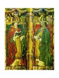 Saints Augustine and Ambrose, Detail of the Rood Screen, St Catherine's Church, Ludham, Norfolk, Uk Giclee Print