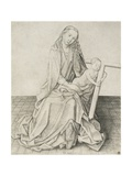 Madonna Seated with the Christ Child Holding a Cross Giclee Print by Arnt von Zwolle