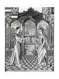 Betrothel of Maximilian I and Mary, Duchess of Burgundy in 1477, after an Image in the… Giclee Print