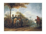 The Halt of the Cavalry Giclee Print by Peeter Snayers