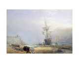 A Hazy Morning on the Coast of Devon, 1853 Giclee Print by Samuel Phillips Jackson