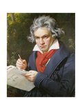 Ludwig Van Beethoven (1770-1827) Composing His 'Missa Solemnis' Giclee Print by Joseph Carl Stieler