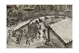 The Natives of Iyugu Preparing Themselves for War, 1890 Giclee Print by Amedee Forestier