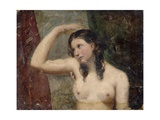 Girl Touching Her Head, 1830 Giclee Print by William Etty