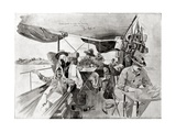 War Correspondents on the Road to Khartoum, Printed in 'Black and White', 20th August 1898 Giclee Print by René Bull