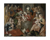 The Family of St. Anne, 1585 Giclée-Druck von Maarten de Vos