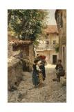 Street in Venetia, 1891 Giclee Print by Henry Woods