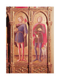 The Pesaro Polyptych, Detail of Two Saints Giclee Print by Antonio Vivarini