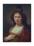 Lady with a Plume, 1636 Giclee Print by Govaert Flinck