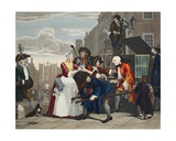 Arrested for Debt, Plate V from 'A Rake's Progress, Illustration from 'Hogarth Restored: the… Wydruk giclee autor William Hogarth