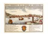 View of the Port of Barcelona Giclee Print