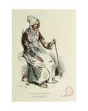 Old Beggarwoman Giclee Print by Henri Bonaventure Monnier