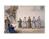 A String of Blind Beggars, Cabul, 1843 Giclee Print by James Atkinson