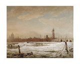 London Bridge in the Great Frost of 1776, 1776 Giclee Print by William Marlow