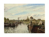 Barge on the Seine at Bougival, 1871 Reproduction procédé giclée par Camille Pissarro