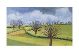Suffolk Spring Sky Giclee Print by Joan Thewsey