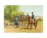 Baron De Vaux - the Armorial of Hunting, Crew of His Highness the Duke of Aumale Giclee Print by Charles Oliver De Penne