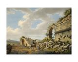 Exterior of the Ruined Roman Theatre at Ephesus, 1790s Giclee Print by Gaetano Mercati