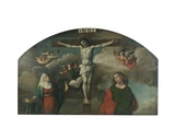 Crucifixion with the Virgin and Saint John the Baptist Giclee Print by Benvenuto Tisi Da Garofalo