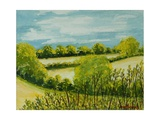 August Landscape, Suffolk Giclee Print by Joan Thewsey