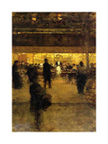 Cafe at Night Giclee Print by Luigi Loir