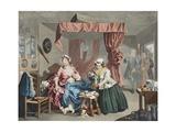 A Harlot's Progress, Plate Lll: Apprehended by a Magistrate, Illustration from 'Hogarth Restored:… Giclée-Druck von William Hogarth