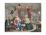 A Harlot's Progress, Plate Lll: Apprehended by a Magistrate, Illustration from 'Hogarth Restored:… Giclee Print by William Hogarth