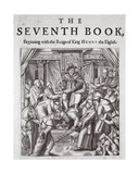 Titlepage, the Seventh Book, from 'Acts and Monuments' by John Foxe, Ninth Edition, Pub. 1684 Giclee Print